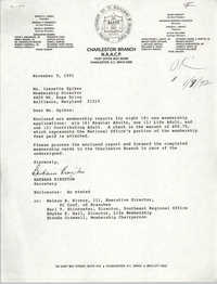 Letter from Barbara Kingston to Isazetta Spikes, November 5, 1991