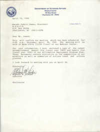 Letter from Michael M. Linder to Dwight C. James, April 19, 1990