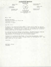 Letter from William A. Glover to Ida Wells, May 9, 1988