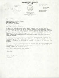 Letter from William A. Glover to Lucille Whipper, May 9, 1988