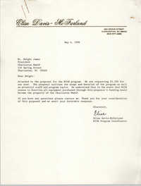 Letter from Elise Davis-McFarland to Dwight James, May 4, 1990