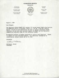 Letter from William A. Glover to a Manager, August 3, 1988