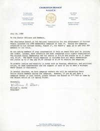 Memorandum, William A. Glover, July 24, 1988