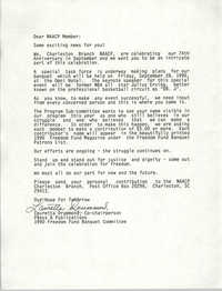 Letter from Lauretta Drummond to NAACP Member