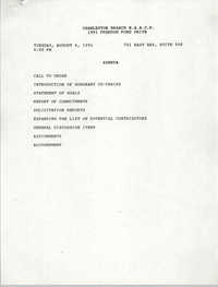 Agenda, 1991 Freedom Fund Drive, National Association for the Advancement of Colored People, August 6, 1991