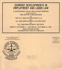 Current Developments in Employment and Labor Law, Continuing Legal Education Seminar Pamphlet, October 12, 1985, Russell Brown