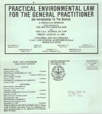 Practical Environmental Law for the General Practitioner, Video/CLE Seminar Pamphlet, August 16, 1985, Russell Brown