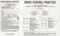 Basic Federal Practice, Pamphlet, September 13, 1985
