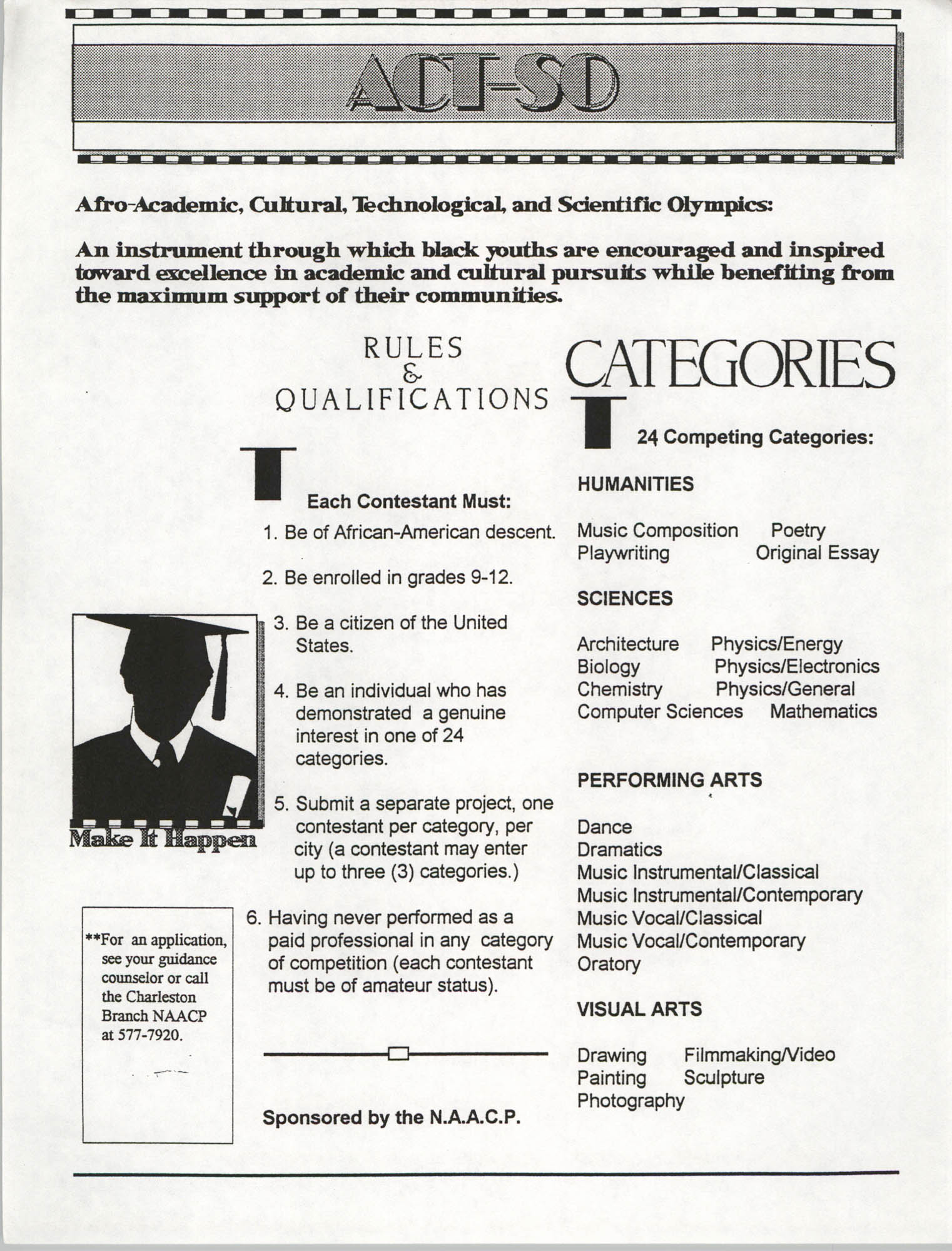 Flyer, ACT-SO Program, NAACP