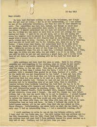 Letter from Sidney Jennings Legendre, May 25, 1943