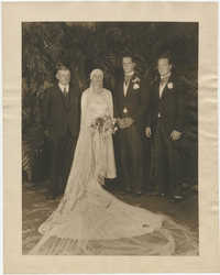 Wedding portrait photograph of Sidney and Gertrude Legendre