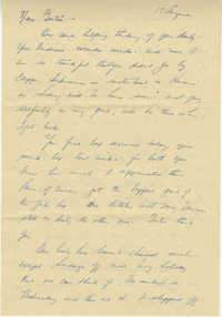 Letter from Stew McClintic, August 17, 1945