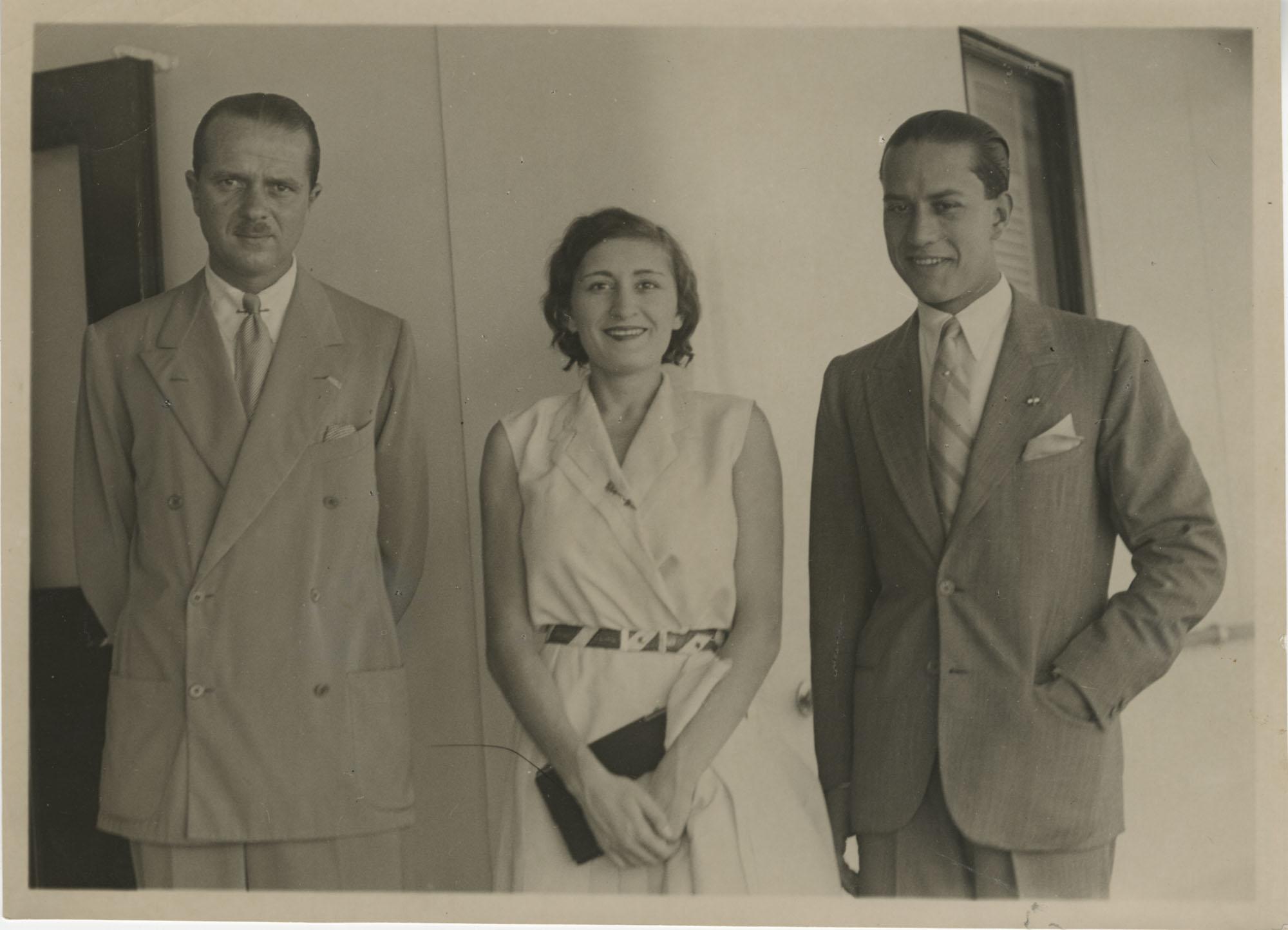 Edda (Mussolini) Ciano, Galeazzo Ciano, and Mario Pansa