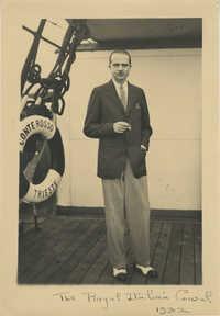 Mario Pansa on board the S.S. Conte