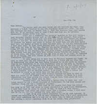 Letter from Gertrude Sanford Legendre, January 27, 1944