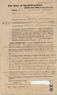 110. Bond of James B. Heyward obligated to Rawlins Lowndes -- March 27, 1845