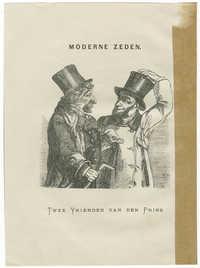 Moderne Zeden. Twee Vrienden van den Prins.