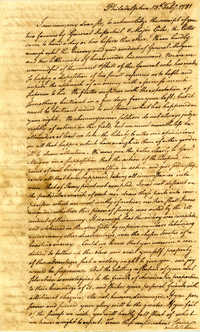 Letter from Charles Petit to Nathanael Greene