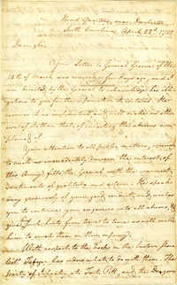 Letter from William Pierce to William Davies