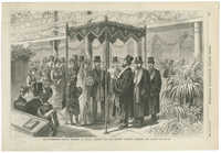 The Rothschild-Perugia Wedding In London, January 19th--the Hebrew ceremony beneath the canopy