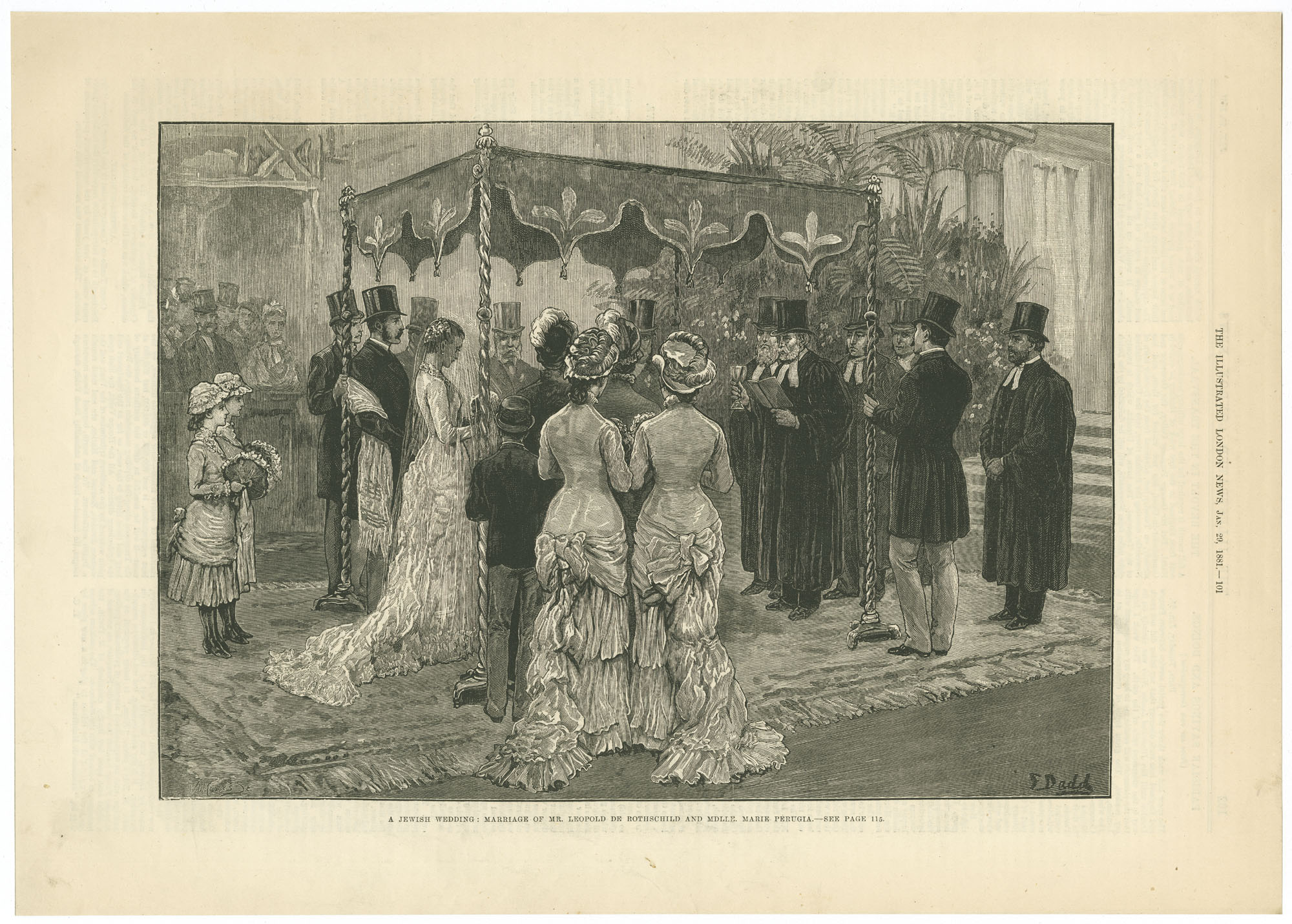 A Jewish wedding: marriage of Mr. Leopold de Rothschild and Mdlle. Marie Perugia