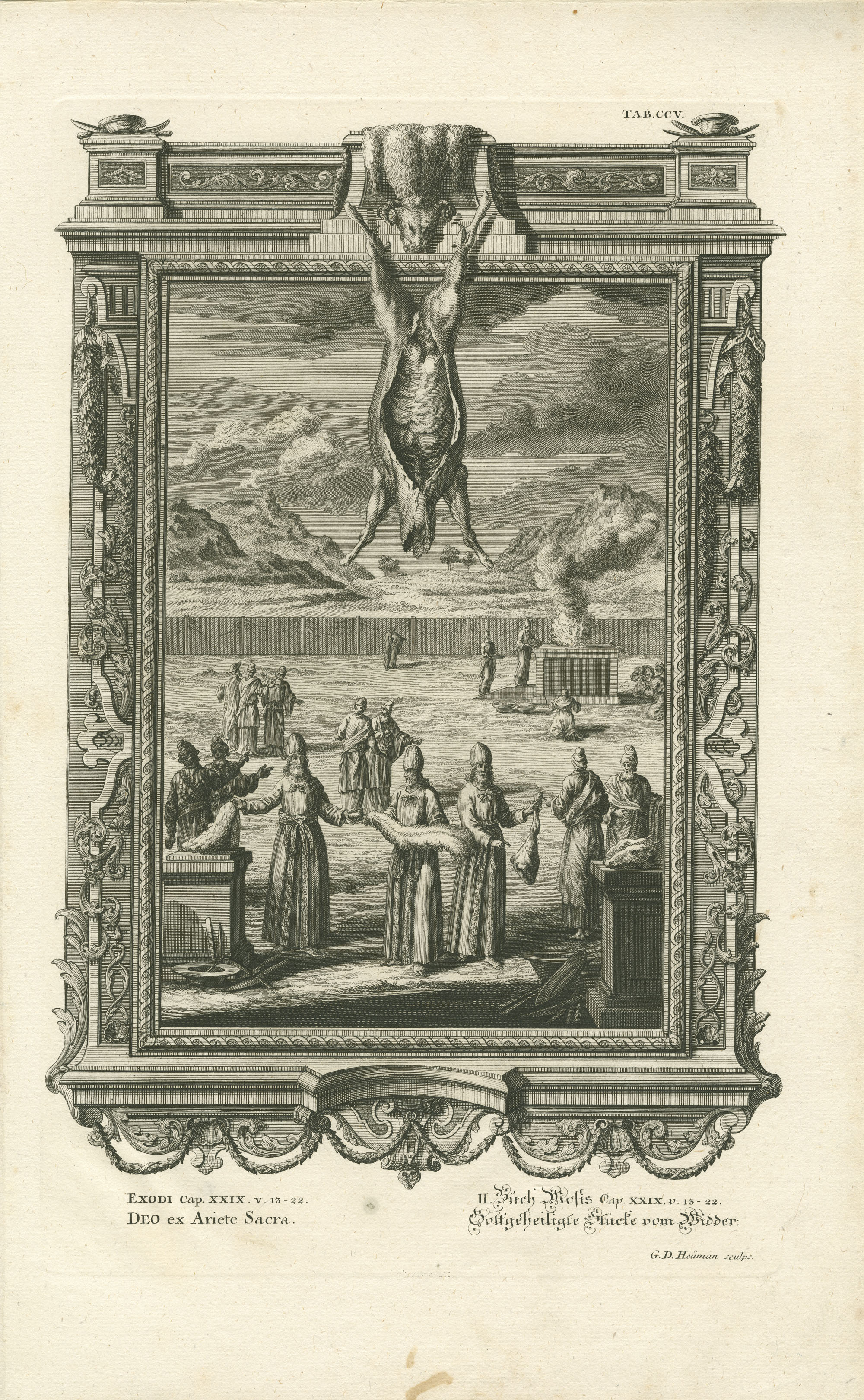 Exodi Cap. XXIX v. 13-22 Deo ex Ariete Sacra / II. Buch Mosis Cap. XXIX v. 13-22 Gottgeheiligte Stücke vom Widder
