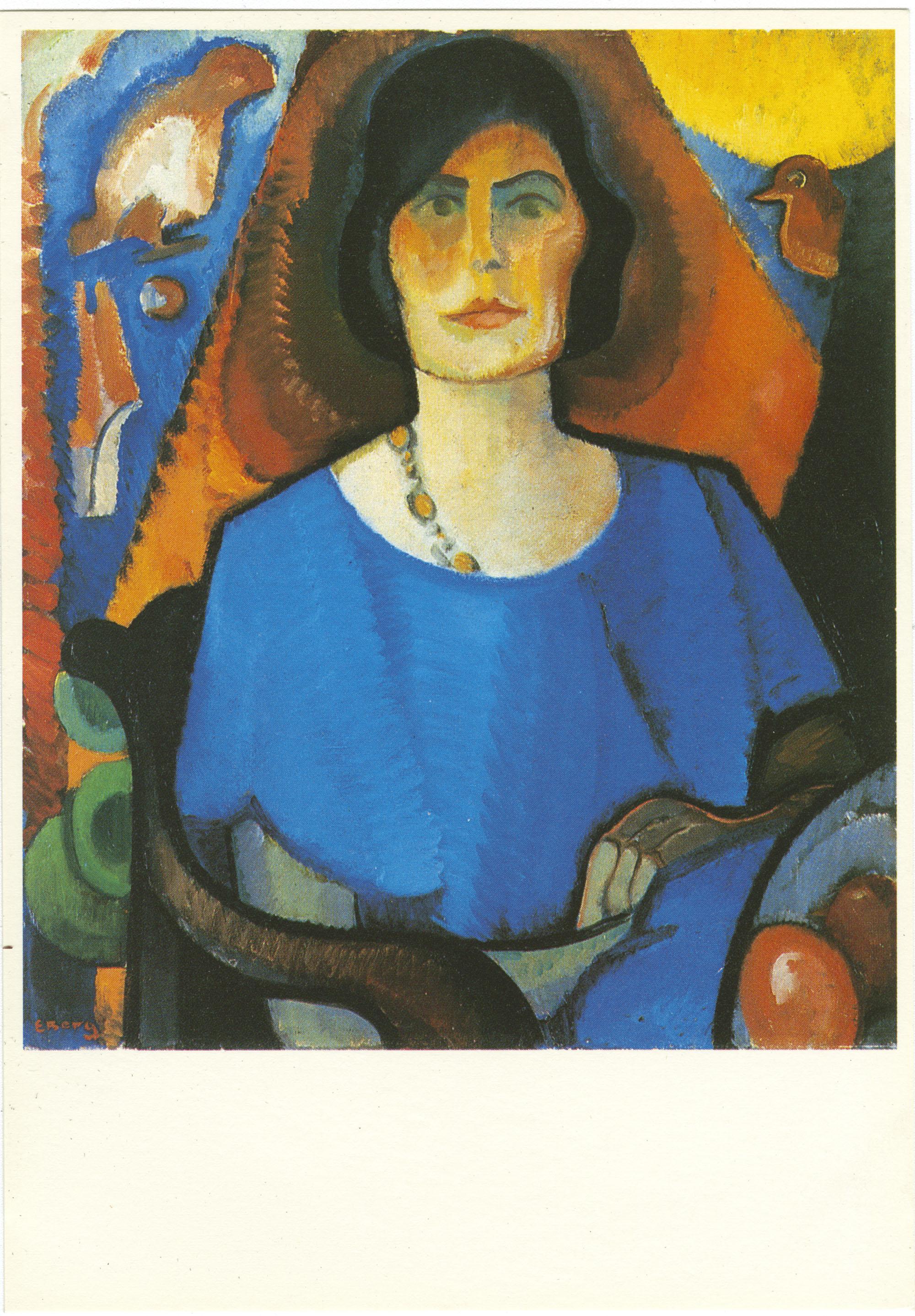 Else Berg (1877-1942) Zelfportret, olievert op doek / Self portrait, oil on canvas, ca. 1930