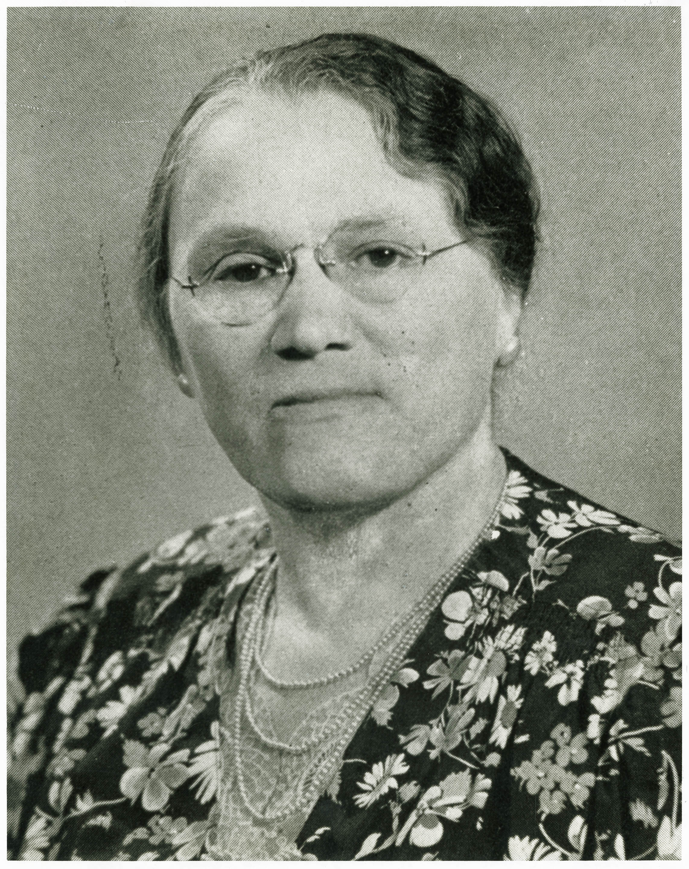 Portrait of Florence A. Clyde, Director of Avery Training School