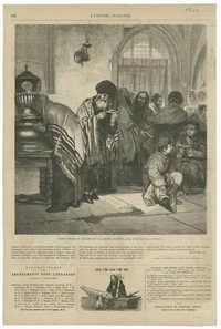 Juifs polonais célébrant le Grand Pardon