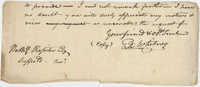 Thomas S. Grimke Autograph Collection, autograph of Eli Whitney, undated