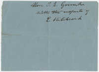 Thomas S. Grimke Autograph Collection, autograph of E. [Edward] Hitchcock, undated