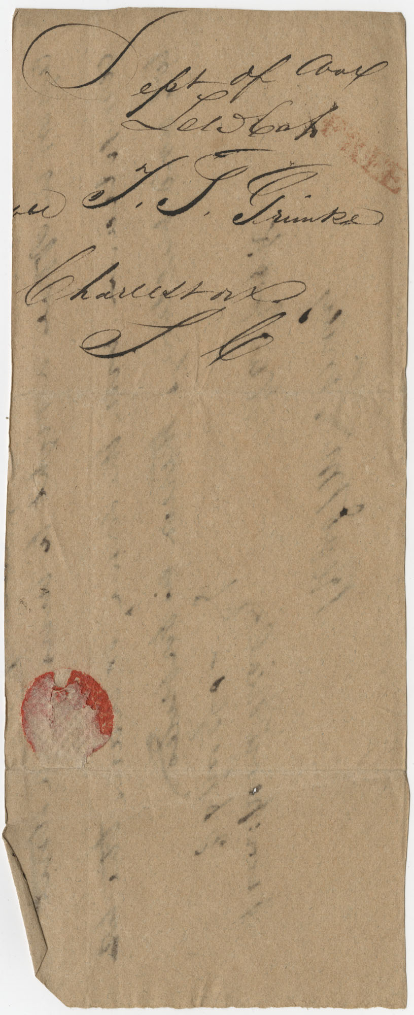 Thomas S. Grimke Autograph Collection, autograph of Lewis Cass, undated