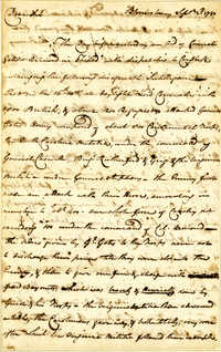 Letter from John Cox to Nathanael Greene