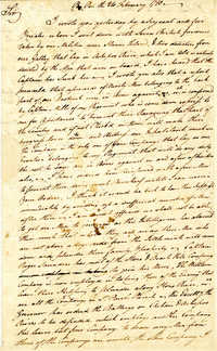Letter from William Skirving to William Moultrie