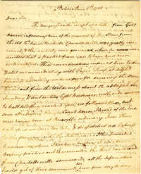 Letter from John Walker to Thomas Jefferson