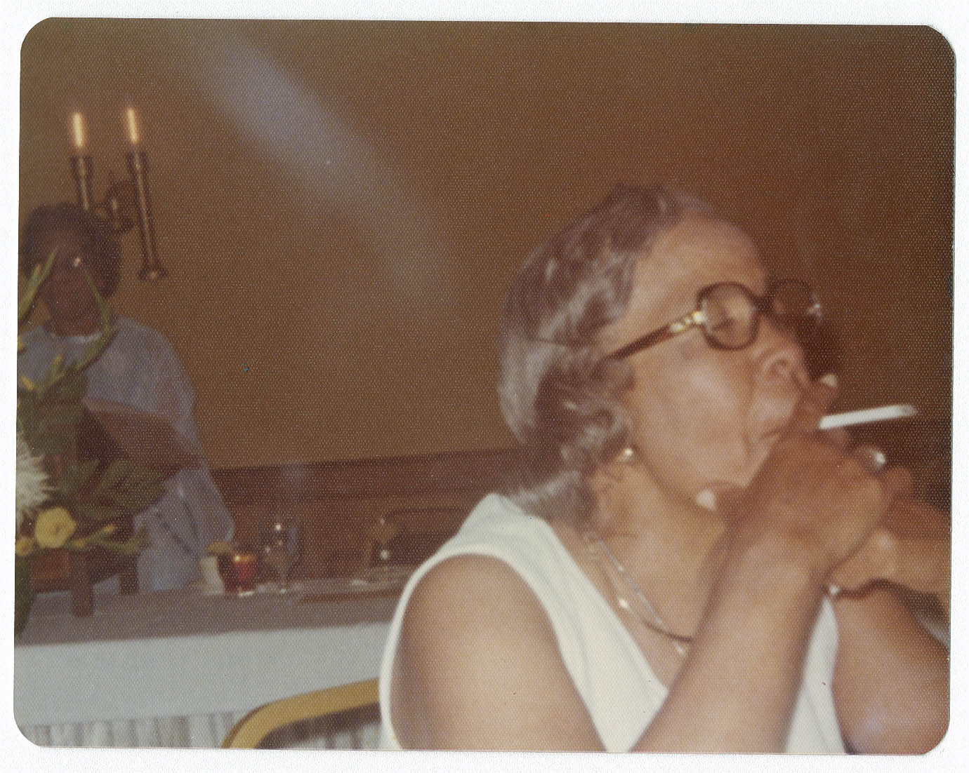 Averite Smoking at Class of 1932 Reunion Lunheon