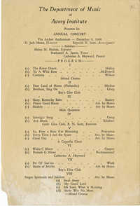 Program for Annual Concert