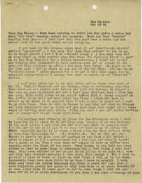 Letter from Armant Legendre, October 16, 1945