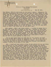 Letter from Armant Legendre, May 28, 1943