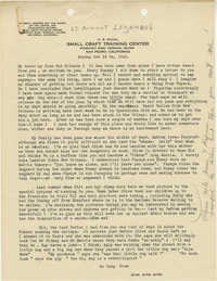 Letter from Armant Legendre, October 24, 1943