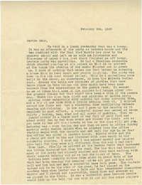 Letter from Sidney Jennings Legendre, February 9, 1943