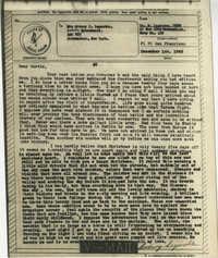 Letter from Sidney Jennings Legendre, December 1, 1943