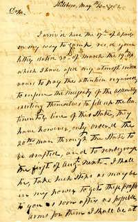 Letter from Jethro Sumner to Nathanael Greene