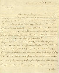 Letter from Horatio Gates to William Ellery