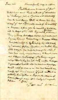 Letter from Abner Nash to Nathanael Greene