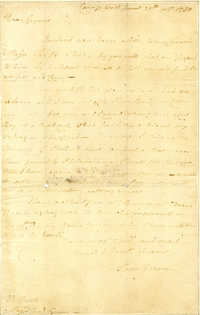 Letter from Moses Hazen to Nathanael Greene
