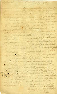 Letter from Everard Meade to Benjamin Lincoln