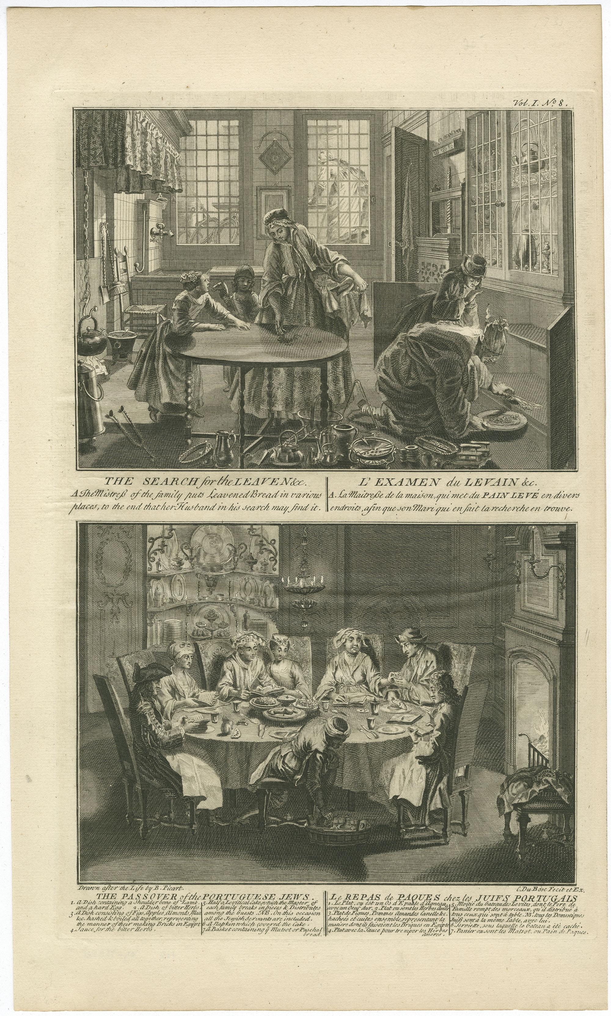 The Search for the Leaven &c. / L'Examen du Levain &c. - The Passover of the Portuguese Jews / Le Repas de Paques chez les Juifs Portugais