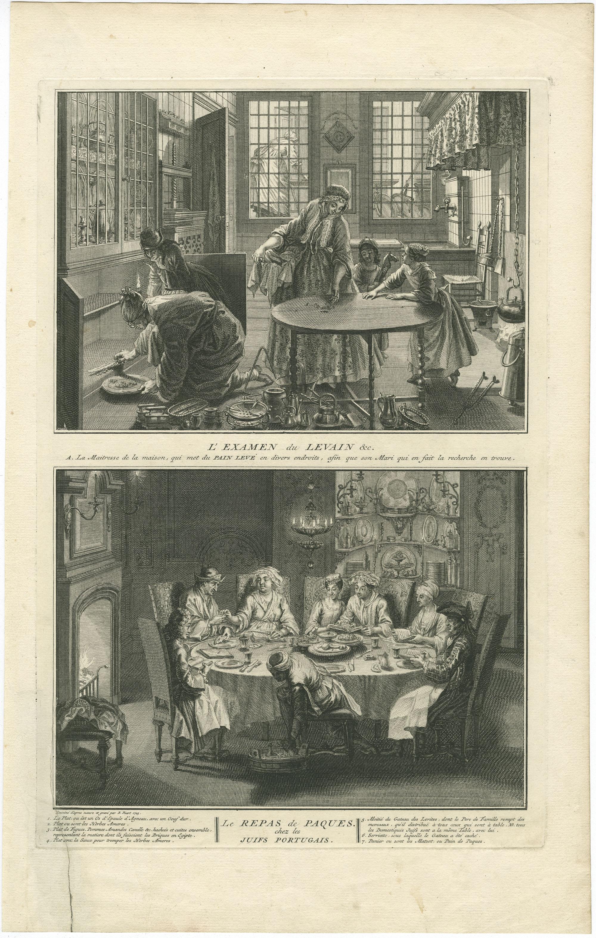 L'Examen du Levain &c. / Le Repas de Paques chez les Juifs Portugais