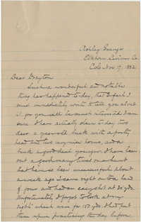Letter to J. Drayton Grimke Jr. in Lancashire, England, November 17, 1882